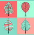 tree sign four styles of icon on vector image