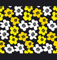 vivid color summer floral in retro 60s style vector image