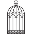 antique bird cage vector image