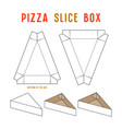 stock box for pizza slice vector image