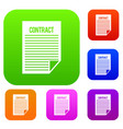 contract set collection vector image