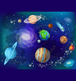 cartoon scientific space background vector image vector image