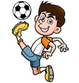 Soccer player vector image vector image