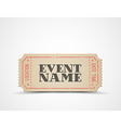 ticket as a template for your event vector image