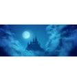Fantasy Castle Moonlight Sky vector image