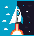 481paper plane and rocket vector image