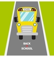 Back to school Yellow school bus kids Green vector image