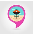 Barbecue grill pin map icon Summer Holiday vector image