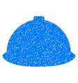 Builder Helmet Grainy Texture Icon vector image
