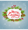Decorative Christmas banner with green fir vector image