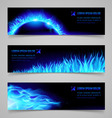 Fire banners vector image