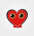 Heart Face Happy Emoticon vector image