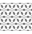 seamless geometric pattern simple floral figures vector image