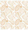 seamless pattern with pizza herbs mushrooms olives vector image