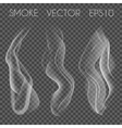 set of transparent realistic white grey vector image