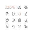 Business Finance Symbols - thick line design vector image vector image