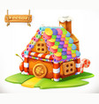 sweet house 3d icon vector image