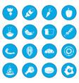 food icon blue vector image