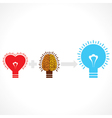 Addition of heart and brain create new idea vector image