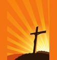 christian cross silhouette vector image