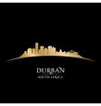 Durban South Africa city skyline silhouette vector image