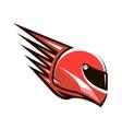 Racing helmet with speed spikes vector image vector image