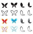 group of butterfly vector image