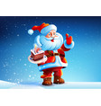 Cake in the hands of Santa Claus vector image