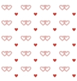 Seamless pattern with double hearts vector image