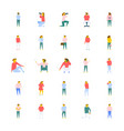 a icons collection of people in flat design vector image