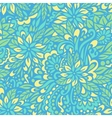 Blue flowers Seamless decorative pattern vector image