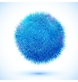 Blue fluffy ball vector image