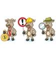 Burly Wood Goat Mascot with money vector image