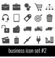 business icon set 2 gray icons on white vector image