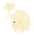 huge polar bear cartoon with speech bubble vector image