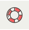 Life preserver thin line icon vector image