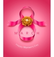 womens day card vector image