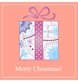Merry Christmas card with gradient gift vector image