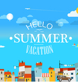 Vacation travelling concept Flat design He vector image