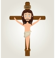 Jesus christ cross crucified desing isolated vector image