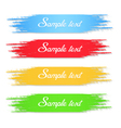 Colorful brush vector image
