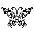 butterfly emblem vector image