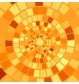 Orange Mosaic Background vector image