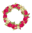 Watercolor flowers wreath vector image