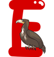 E for eagle vector image vector image