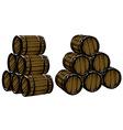 barrels of beer vector image