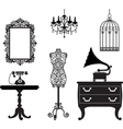 Antique collection vector image