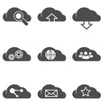 Cloud related internet icons set vector image