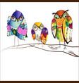 decorative bright birds vector image