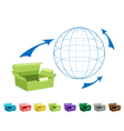 Empty Cardboard Boxes for Freight Transportation vector image